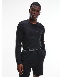Calvin Klein Lounge Long-sleeve T-shirt - Modern Structure - Black