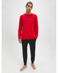 Calvin Klein Pyjama Met Broek - Rood