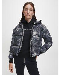 Calvin Klein - Pufferjack Met Wolkenprint - Lyst