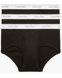 Calvin Klein 3er-pack Slips - Cotton Classics - Zwart