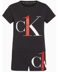 Calvin Klein Pyjamaset - Ck One - Zwart
