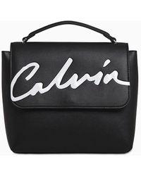 Calvin Klein Rugzak Met Klep - Zwart