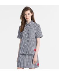 Calvin Klein - Gingham Short-sleeve Shirt - Lyst