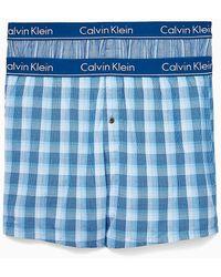 Calvin Klein 2-pack Slim Fit Boxer Shorts - Blauw