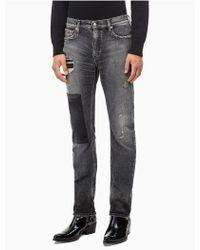 Calvin Klein - Ckj 026 Slim Blocked Patch Jeans - Lyst