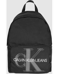 Calvin Klein Ronde Rugzak Van Gerecycled Nylon - Zwart