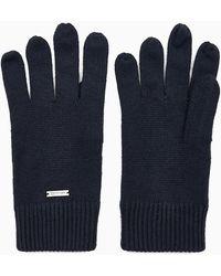 Calvin Klein Gebreide Handschoenen - Blauw