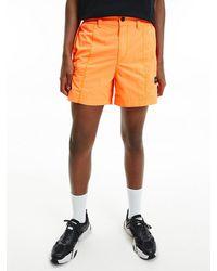 Calvin Klein Cargoshorts aus Nylon - Orange