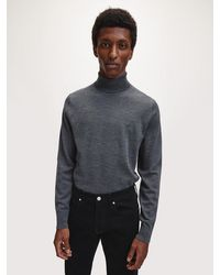 Calvin Klein Coltrui Van Premium Wol - Grijs