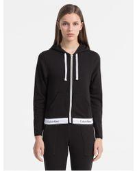 Calvin Klein Modern Cotton Hoodie - Black