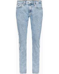 Calvin Klein Ckj 058 Slim Tapered Cropped Jeans - Blauw