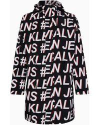 Calvin Klein Parka Met Volledige Logoprint - Zwart