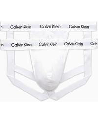 Calvin Klein Pack de 2 suspensorios blancos de algodón elástico