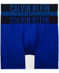Calvin Klein 2-pack Boxers Lang - Intense Power - Blauw