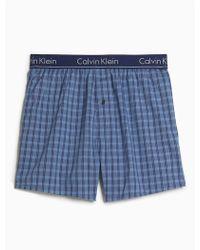 CALVIN KLEIN 205W39NYC - Slim Fit Woven Boxer - Lyst