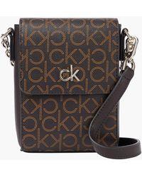 Calvin Klein Mini Logo Crossbody Bag - Brown