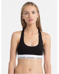 a0490cf670 Lyst - Calvin Klein Underwear Perfectly Fit Racerback Bra in Gray