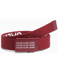 Calvin Klein Ceinture en toile - Rouge