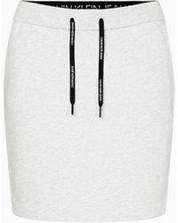 Calvin Klein Badstofkatoenen Minirok - Grijs