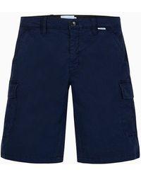 Calvin Klein Cargoshorts aus Baumwoll-Twill - Blau