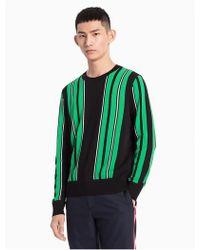 CALVIN KLEIN 205W39NYC - Vertical Stripe Sweater - Lyst
