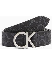 Calvin Klein Riem Volledig Bedrukt Met Logo - Zwart