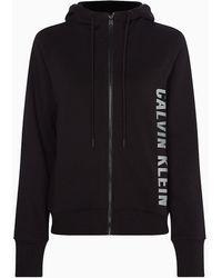 Calvin Klein Sudadera con capucha y cremallera - Negro