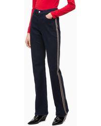 Calvin Klein Bootcut Jeans Met Hoge Taille - Blauw