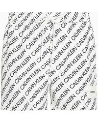 Calvin Klein Kort Zwemshort Met Trekkoord - Core Solids - Wit