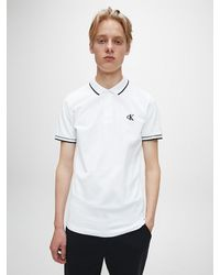 Calvin Klein - Slim Stretch Piqu Polo - Lyst