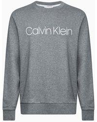 Calvin Klein Sweatshirt Met Logo Van Biologisch Katoen - Grijs