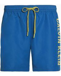 Calvin Klein Medium Zwemshort Met Trekkoord - Intense Power Plus - Blauw