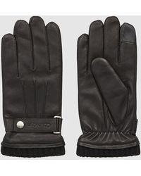 Calvin Klein Leren Handschoenen - Zwart