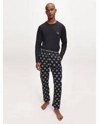 Calvin Klein Pyjama Met Broek - Ck One - Zwart