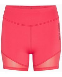 Calvin Klein Nauwe Sportshorts - Rood