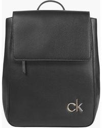 Calvin Klein Flap Backpack - Black