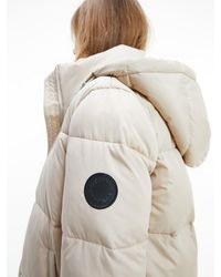Calvin Klein Recycled Polyester Puffer Coat - Grey