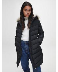 Calvin Klein Donspufferjas Van Gerecycled Polyester - Zwart
