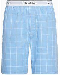 Calvin Klein Pyjamashort - Modern Cotton - Blauw