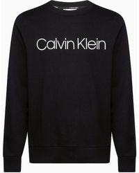 Calvin Klein Sweatshirt Met Logo Van Biologisch Katoen - Zwart