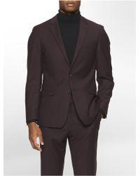 CALVIN KLEIN 205W39NYC - X Fit Ultra Slim Fit Raisin Suit Jacket - Lyst