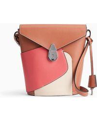 Calvin Klein Kleine Leren Lock Bucket Bag - Roze