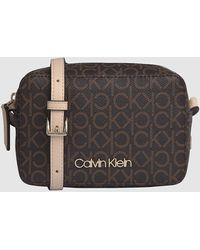 Calvin Klein Crossover Met Logo - Bruin