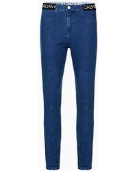 Calvin Klein Stretchdenim legging - Blauw