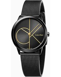 Calvin Klein Horloge - Minimal - Zwart