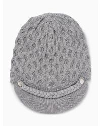 CALVIN KLEIN 205W39NYC - Honeycomb Cable Knit Cabbie - Lyst