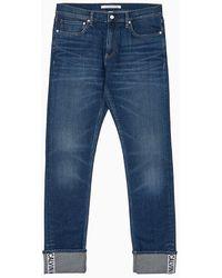 Calvin Klein CKJ 026 Slim Cuff Logo Jeans - Blau