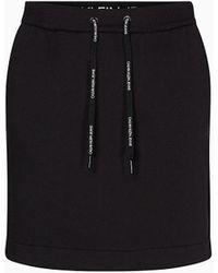 Calvin Klein Badstofkatoenen Minirok - Zwart