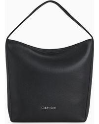 Calvin Klein Bolso hobo de cuero - Negro