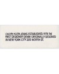 Calvin Klein Embroidered Headband - White